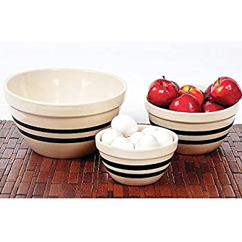 Amazon Com Usa Made Stoneware Shoulder Bowls Large By
