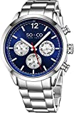 "SO&CO New York Mens ""Specialty Monticello"" Stainless Steel Multifuction Quartz Wrist Watch with Date"