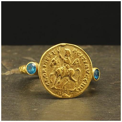 Ancient Greek Signet Earrings Guardian Angel Medallion Earrings 24K Gold Plated 925 Sterling Silver Religious Gift by Pellada