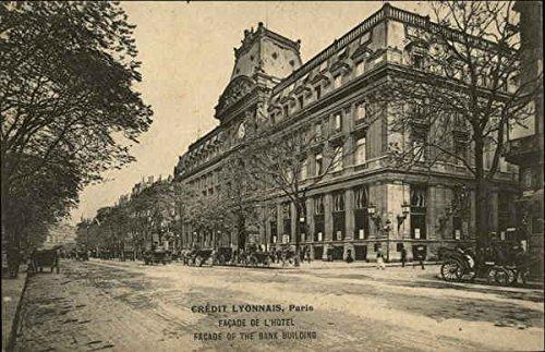 credit-lyonnais-paris-france-original-vintage-postcard