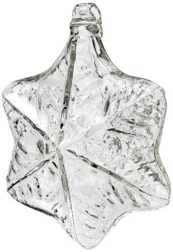 Glass Snowflake Friend Ornament - Kitras Snowflake Art Glass, Clear