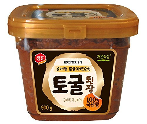 Premium Unpasteurized Non-GMO Togul Soybean Paste, Doenjang (1.9 Lb) By Sempio