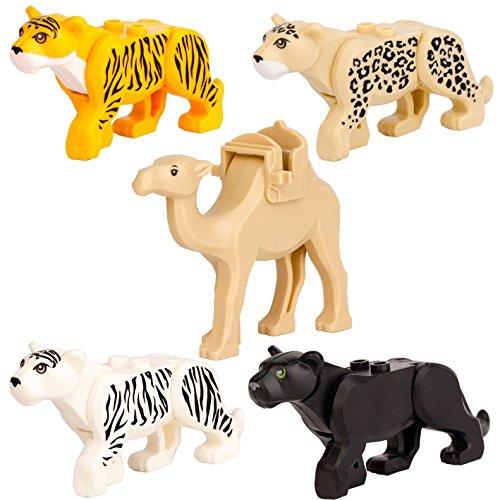 5pcs/set Leopard Tiger camel Black panther Toy