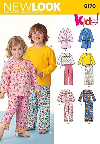 Simplicity Creative Patterns New Look 6170 Toddlers' and Child's Pajamas, A (1/2-1-2-3-4-5-6-7-8)