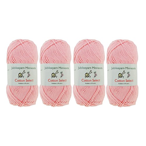 Cotton Select Sport Weight Yarn - 100% Fine Cotton - 4 Skeins - Col 501 - Peach ()