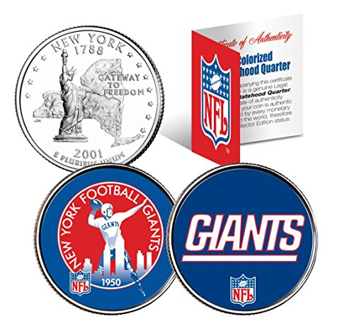 (NEW YORK GIANTS * Retro & Team Logo * NY Quarters 2-Coin U.S. Set NFL)