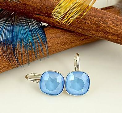 Crystals /& Stones Boucles doreilles pendantes en argent 925 avec cristaux Swarovski/®