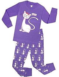 Girls Pajamas for Christmas Children Heart Clothes Toddler Kids Cartoon Sleepwear