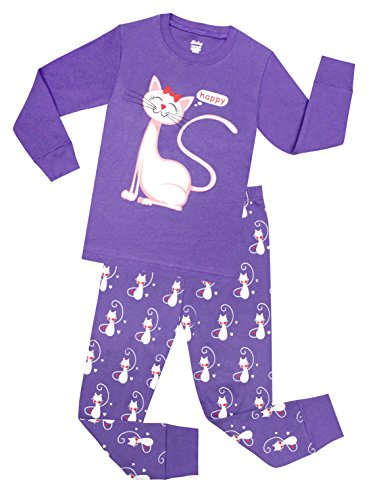 little girls cat pajamas toddler sleepwear children cotton christmas pjs set size 12 years by shelry