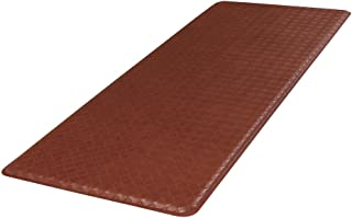 """product image for GelPro Classic Anti-Fatigue Kitchen Comfort Chef Floor Mat, 20x48"""", Basketweave Chestnut Stain Resistant Surface with 1/2"""" Gel Core for Health and Wellness"""