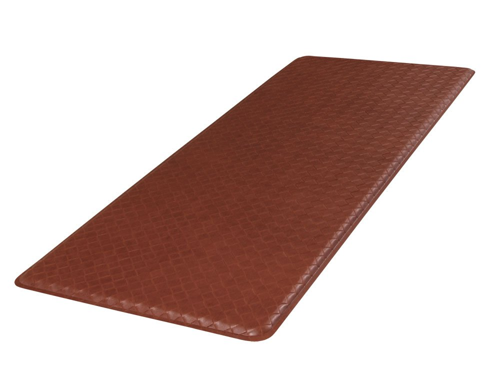 """GelPro Classic Anti-Fatigue Kitchen Comfort Chef Floor Mat, 20x48"""", Basketweave Chestnut Stain Resistant Surface with 1/2"""" Gel Core for Health and Wellness"""