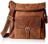 Visconti Mars Large Leather Messenger Shoulder Bag Handbag Oiled Leather, Tan, One Size