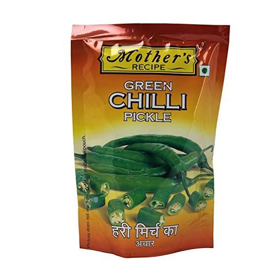 Mother's Recipe Pickle - Green Chilli , 200g Jar