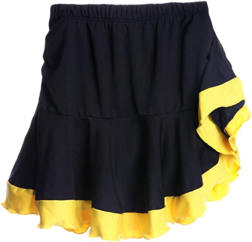 Falda de Baile Latino con Pliegues Amarillos Falda elástica Ropa ...