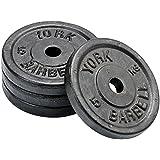 York Fitness Four Standard Cast Iron Disc Set - 5kg