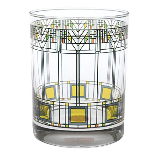 Frank Lloyd Wright Tree of Life Drinking Glass Tumblers - Set of 2 Collectible Beverage Cups
