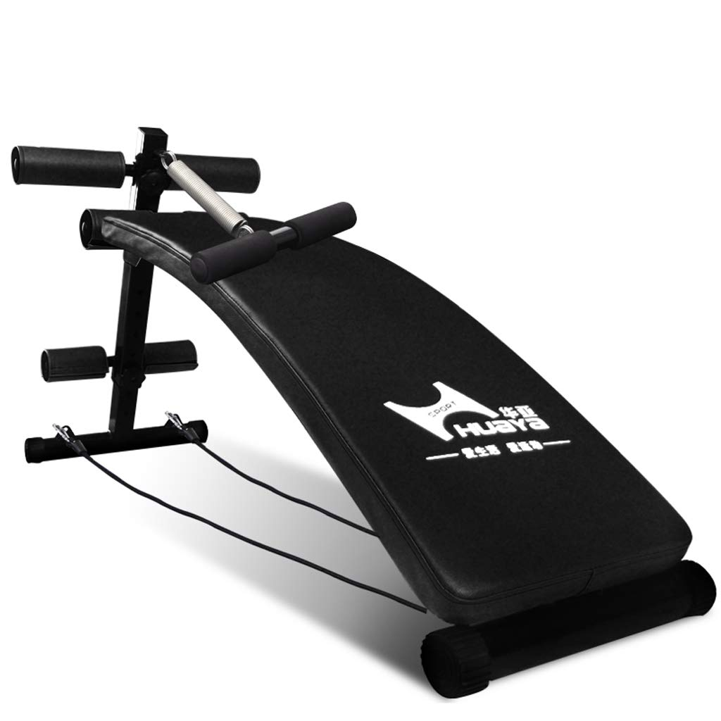 DLT AB Sit Up Bench Decline Incline Gym-Qualität Sit Pad Bank, schwarz Hanteln Workout Einstellbare Bank, Ganzkörper-Sit-up-Bar Slant Board Equipment