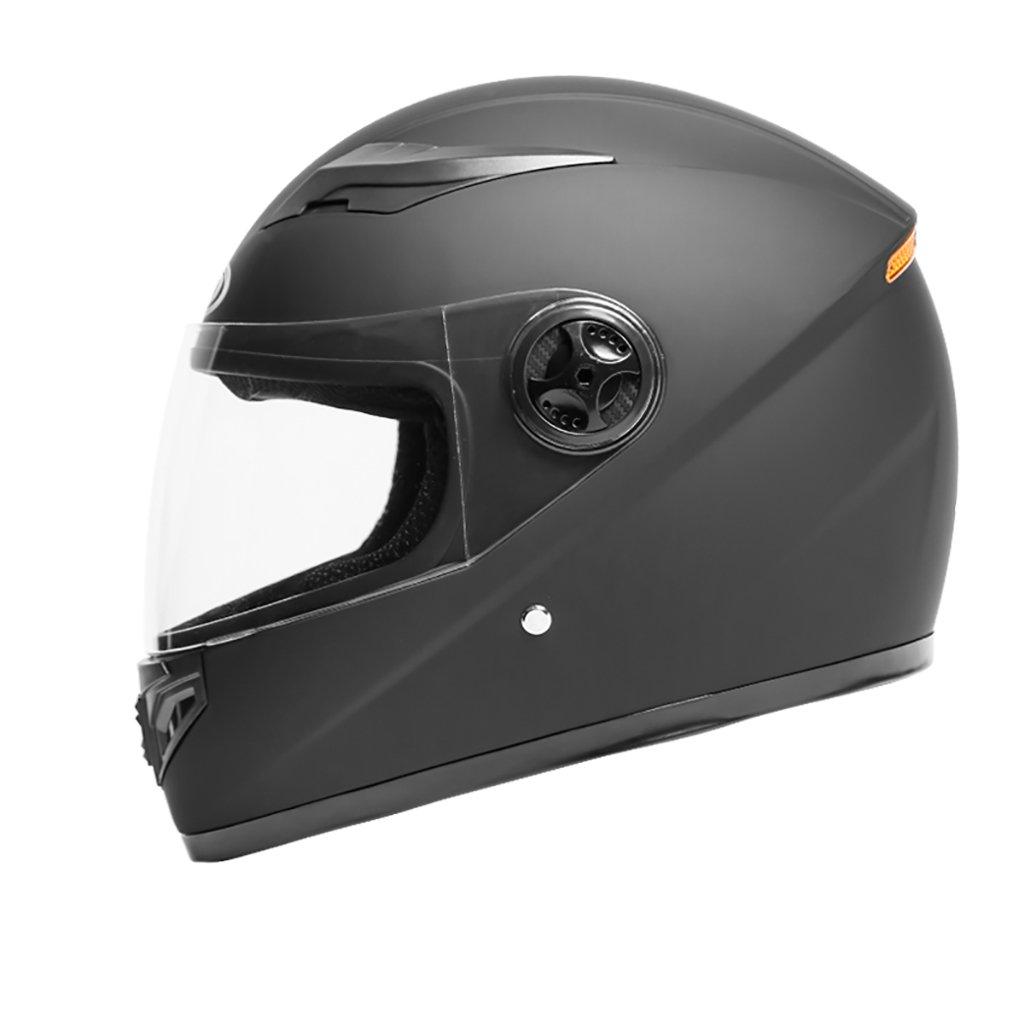 ヘルメット ヘルメット/メンズMオートバイヘルメット夏日保護ヘルメットフォーシーズンユニバーサルマルチカラー軽量パーソナリティファッションヘルメット (色 : Matt black)  Matt black B07D8XB8P8