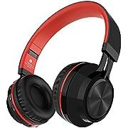 Sound Intone BT-06 Bluetooth 4.0 drahtloser Kopfhörer, eine HiFi-Anlage mit Mikrofon, Stereosound, Lautstärkeregler und guter Geräuschdämpfung kompatibel mit den meisten Phones/ PC/ Tv/ iPhone/ Samsung/ Laptop(Rot)