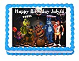 Five nights at Freddy's FNaF party edible cake image cake topper frosting sheet Best Selling