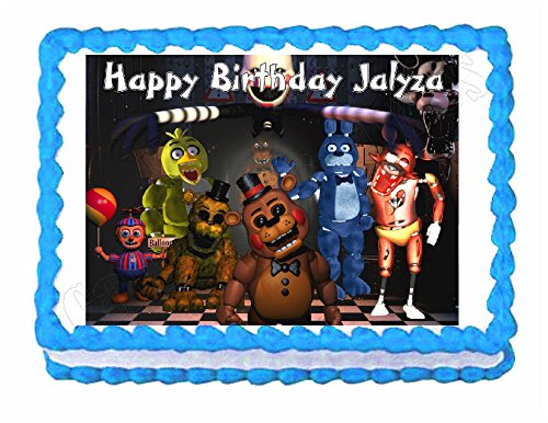 Five nights at Freddy's FNaF party edible cake image cake topper frosting sheet Best Selling by Unbranded