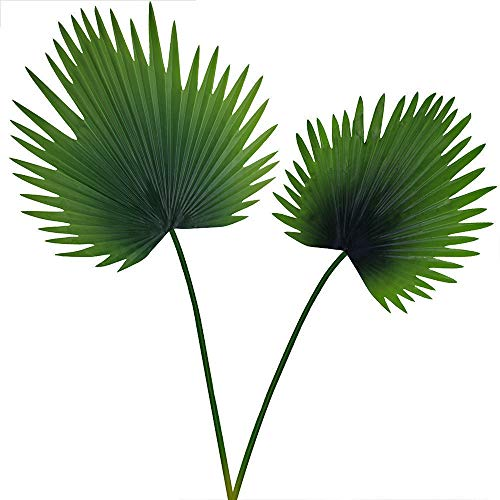 Supla 2 Pcs 2 Size Faux Palm LeavesTropical Leaves Artificial Palm Spray in Green Artificial Greenery for Floral Arrangement