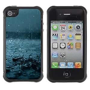 Suave TPU GEL Carcasa Funda Silicona Blando Estuche Caso de protección (para) Apple Iphone 4 / 4S / CECELL Phone case / / Fall Blue Storm Summer Nature /