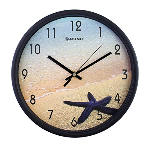 JustNile 12-Inch Silent Wall Quartz Clock with Modern & Crea