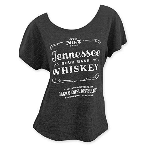 Jack Daniels Women's Daniel's Tennessee Whiskey Short Sleeve T-Shirt Grey Large - Jack Daniels Clothing For Women