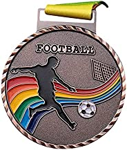LDENG Metal Winner Gold Silver Bronze Award Medals Football Game Medals Soccer Sports Commemorative Medal Meta
