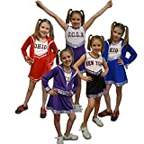 Cheerleader Red Cheerleader Childs Fancy Dress Costume Assorted Colours Red Age 11-12