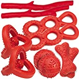 Grriggles 10 Piece Rubber Toy Packs, Red