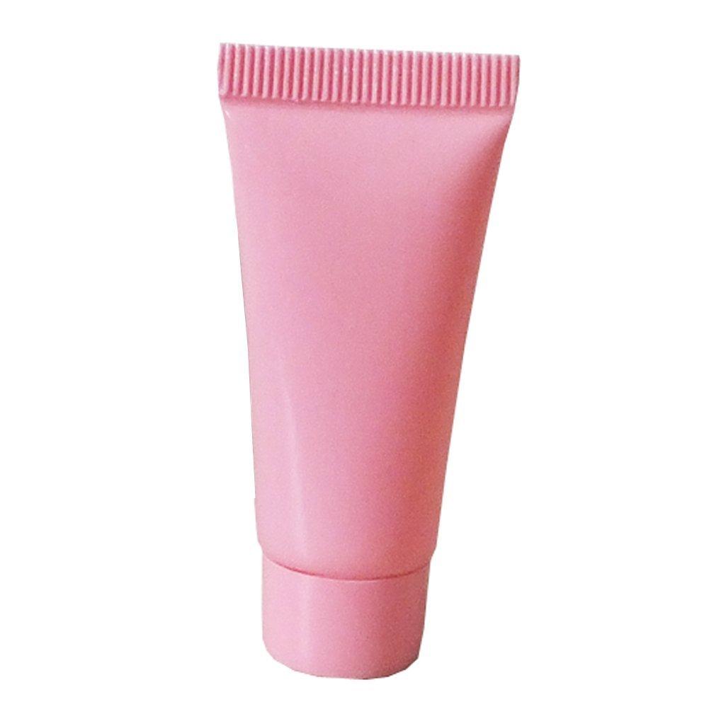 59666c8ca009 Amazon.com : 10PCS 5ML Pink Plastic Empty Squeeze Refillable Bottle ...