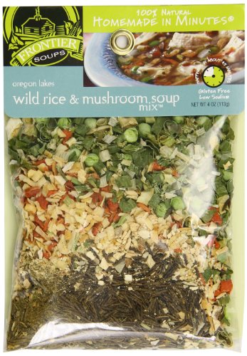 Frontier Soups Homemade In Minutes Soup Mix, Oregon Lakes Wild Rice and Mushroom, 4 Ounce (Best Mushroom Barley Soup)