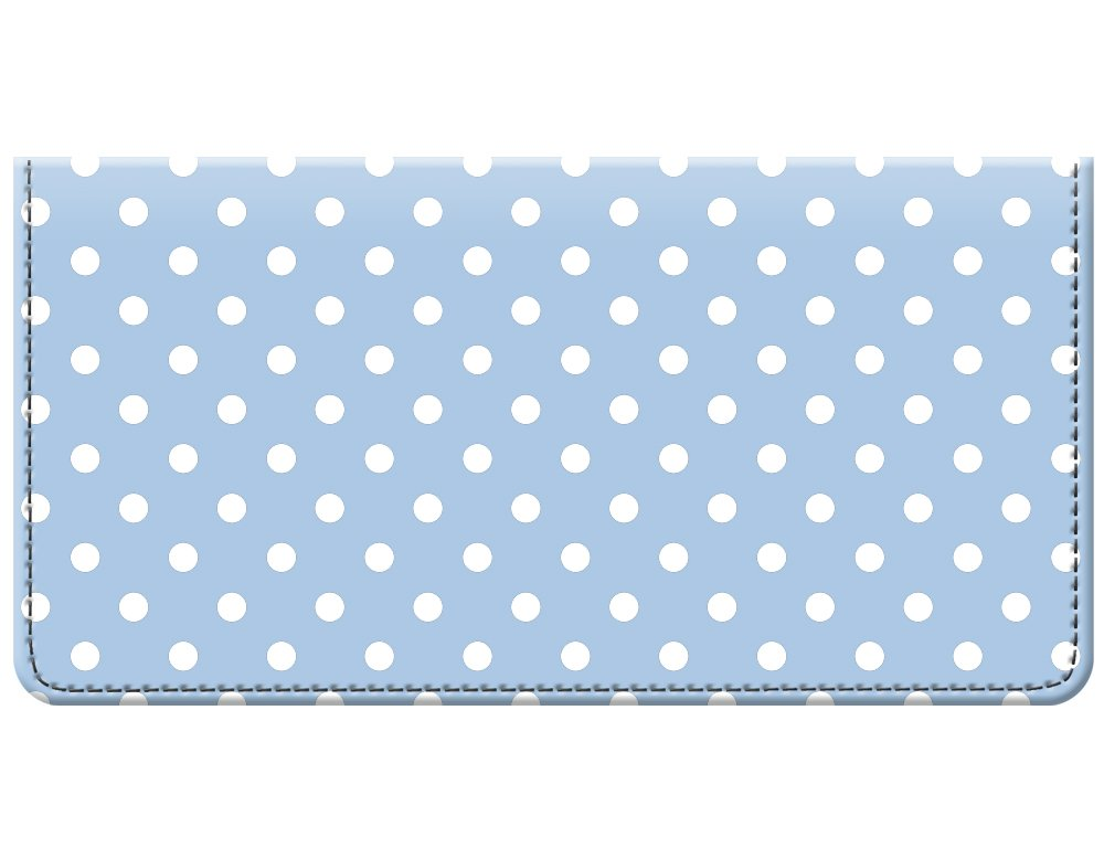 Snaptotes Baby Blue Small Polka Dot Design Checkbook Cover