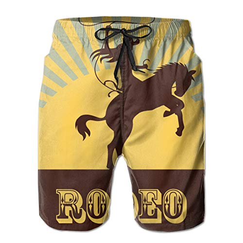 - NICOKEE Cool Swim Trunks for Men Rodeo Cowgirl Horse Cowboy West Rider Outdoor Race Summer Quick Dry Beach/Board Shorts