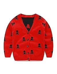 Mud Kingdom Boys Cardigan Sweater Skull