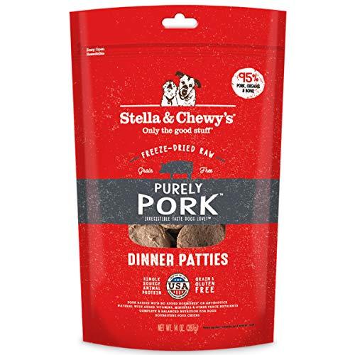 Stella & Chewy's Freeze-Dried Raw Purely Pork Dinner Patties Dog Food, 14 oz. Bag