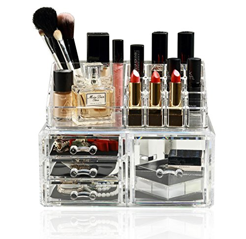 Unique Home Acrylic Jewelry and Cosmetic Storage Makeup Orga