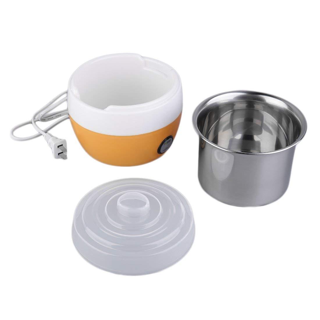 Formulauff yogurtiera in Acciaio Inossidabile bricolage contenente deliziosi Yogurt aromatizzare Il Vostro Yogurt Fatto in casa a Vostro Gusto Arancione