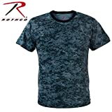 Rothco T-Shirt, Digital Midnight Blue Camo, Medium