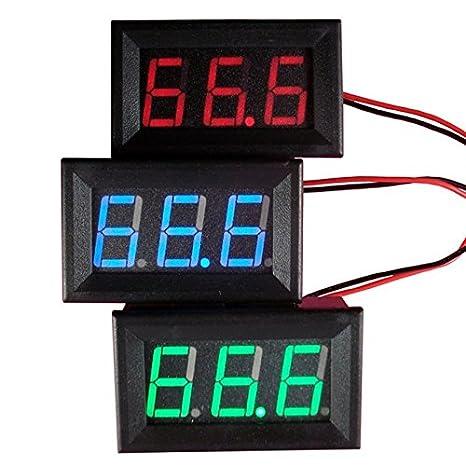 Balai DC 0-30V LED 3-Digital Display Voltmeter Panel Tegangan Motor for Solar Projects// Battery Voltage Monitor