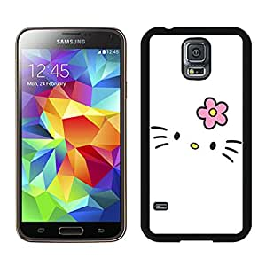 Hello Kitty 28 Custom Design Cell Phone Cover Case for Galaxy S5 SV I9600 Black