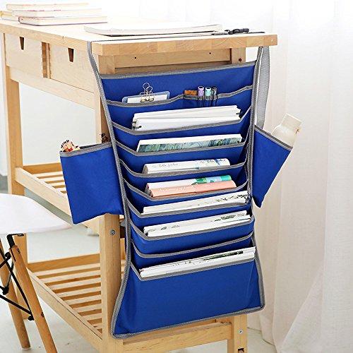 Bolsa de almacenamiento, bolsillos organizadores para colgar, bolsas de mano para estudiantes, aula, computadora, mesa de...