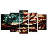 DaoAG 5Pcs Unframed Modern Art Oil Canvas Painting Picture Home Wall Room Decoration (B:2035cm2,2045cm2,2055cm1)