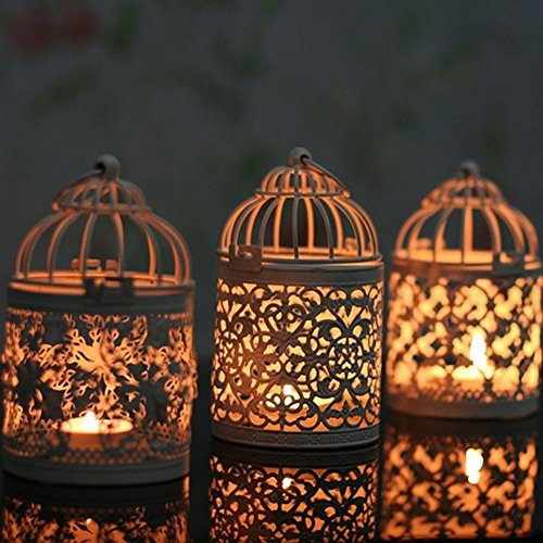 lightclub Hanging Hollow Candle Holder Stand Antique Moroccan Style Lantern Wedding Decor Style C