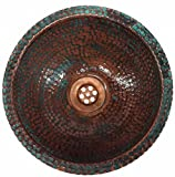 Egypt gift shops Hand Textured Dome Oxidized VERY SMALL Narrow Places Vanity Innovative Copper Bath Sink House Remodel