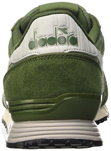 Diadora Titan Ii,  Plataformas Rectas, Unisex Verde (Olivine/Rifle Green)