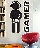 Paper Plane Design Gamer Wall Decal For Boys Room (App 2 ft X 4 ft)