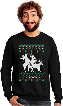 Reindeer Humping Ugly Christmas Sweater Funny Christmas Sweatshirt Xmas Party